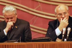Eltsin e Gorbaciov