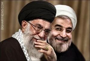 Hassan Rohani e Alì Khamenei