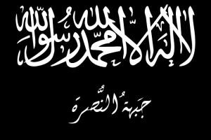 La bandiera di Jabhat Al Nusra