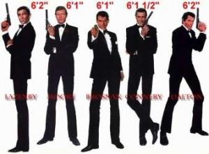 I vari attori che hanno interpretato James Bond