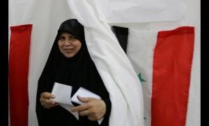 Alle urne anche le donne (foto Al Jazeera)