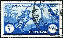 Un francobollo della Tripolitania italiana