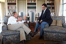 Bandar Bin Sultan e il presidente Bush nel 2002