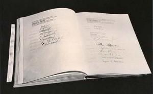 L'originale dello Statuto delle Nazioni Unite firmato a San Francisco il 26 giugno 1945