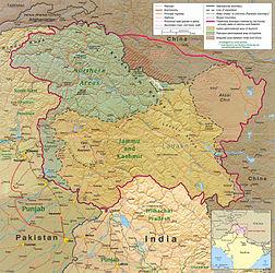 La regione del Kashmir