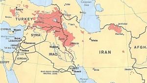 La mappa delle aree curde in Medio Oriente