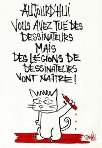 Nadia Khiari (Willis from Tunis) disegnatrice tunisina. Grazie...Nadia e grazie ai vignettisti arabi per la loro solidarietà.
