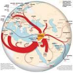 Mappa del flusso dei foreign fighters (elaborazione del Washington Post)