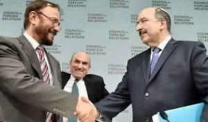 Anwar Majed Eshki  e l'ambasciatore israeliano all'ONU