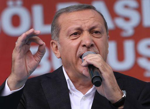 Il Presidente Turco Erdogan durante la campagna elettorale