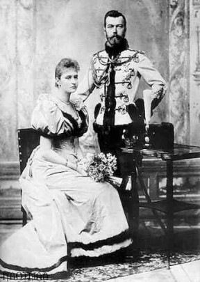 Nicola II con la zarina Alessandra