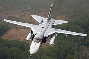 Il jet russo SU-24 (Fonte: Wikipedia)