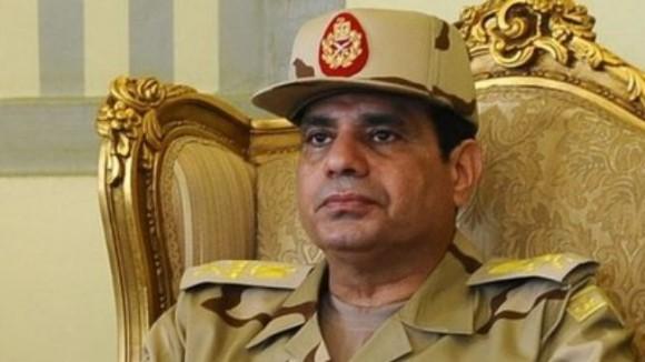 Il presidente egiziano Al Sisi quando era a capo delle Forze Armate egiziane