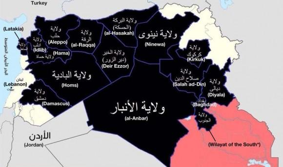 I confini...peraltro in movimento del cosidetto Stato Islamico (IS)
