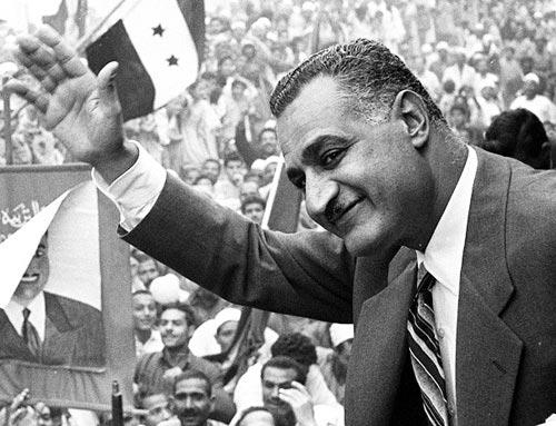 Il presidente egiziano Nasser, fondatore dell'Egitto attuale