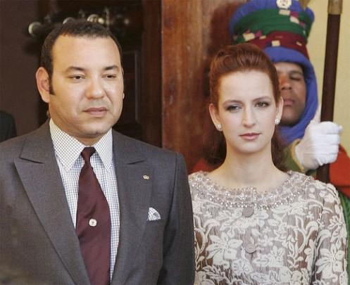 Il Re del Marocco e la sua consorte