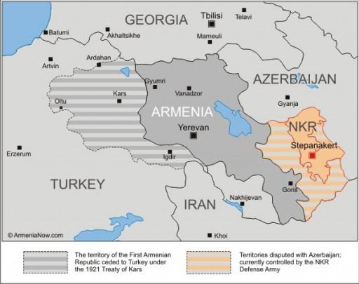 Armenia, Georgia e territori circostanti