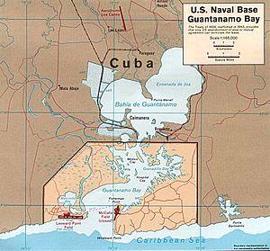 La base navale americana di Guantanamo
