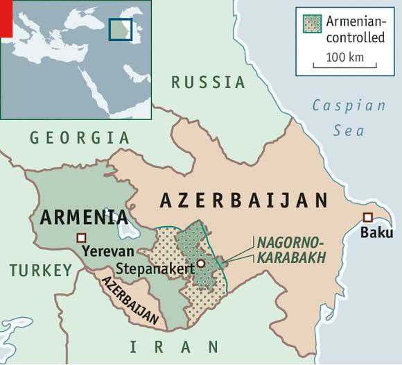 Mappa fornita da S.E. Karapetian