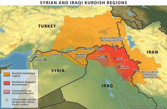 Le regioni dei curdi