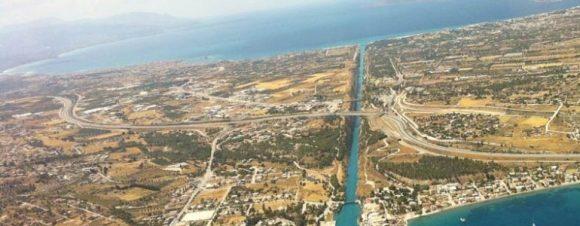 Il canale di Suez dall'alto