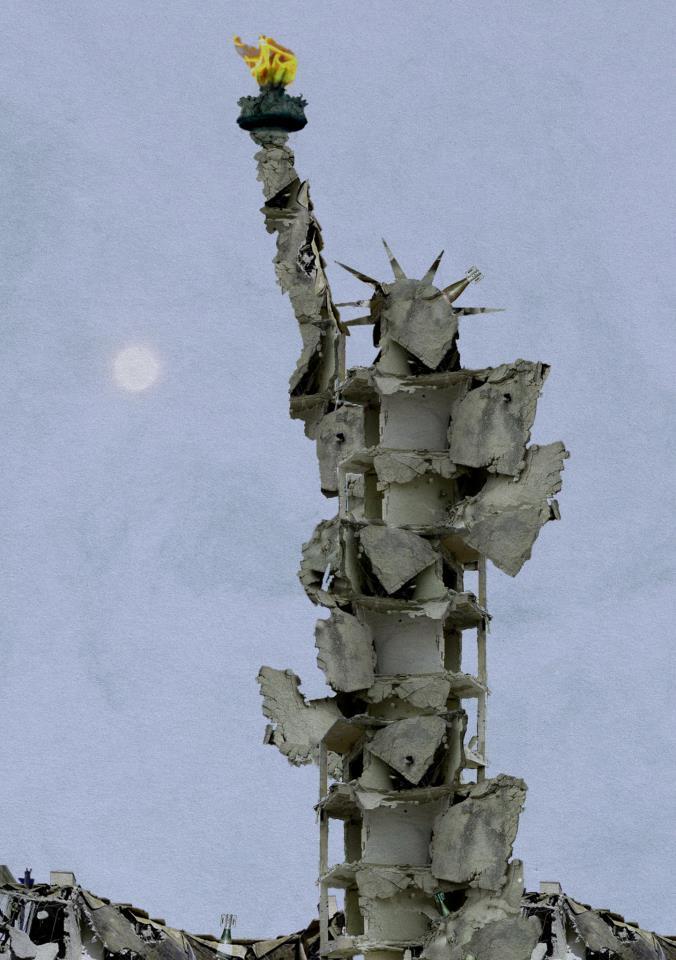 La 'Statua della LIbertà' di Tammar Azzam