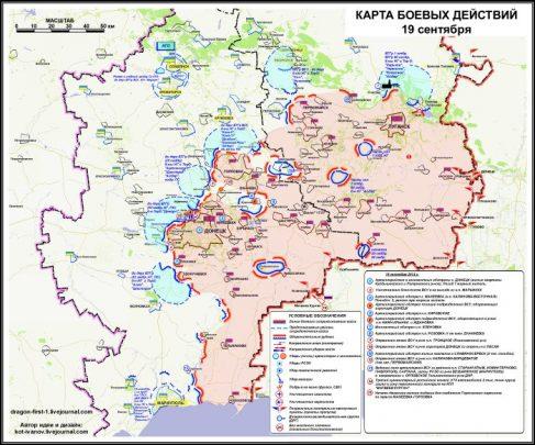 Mappa del Donbass (Est Ucraina)