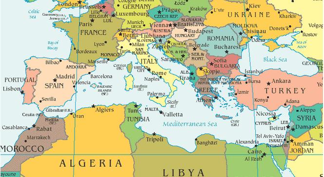 Mare Mediterraneo Cartina.2035 Mediterraneo E La Trasformazione Dei Suoi Scenari Geopolitici Osservatorio Analitico