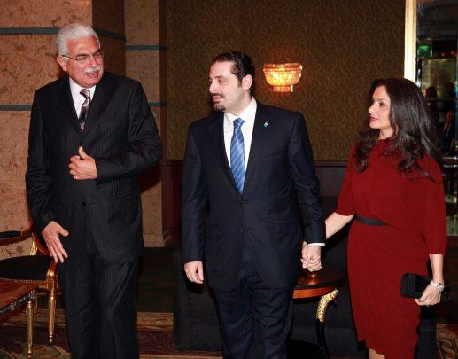 Saad Hariri con la moglie Laura