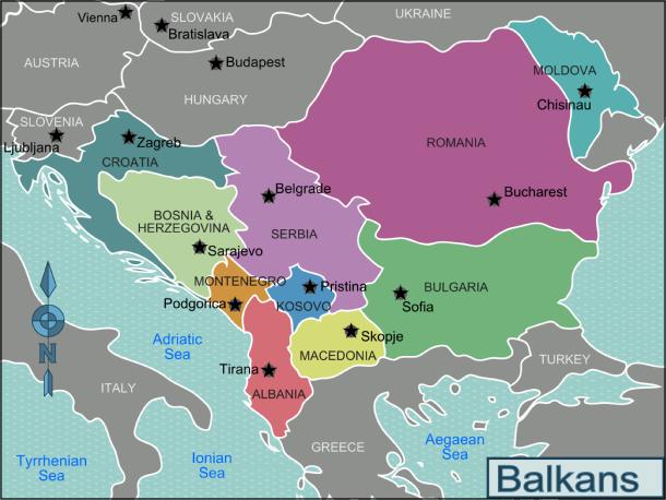 La regione dei Balcani