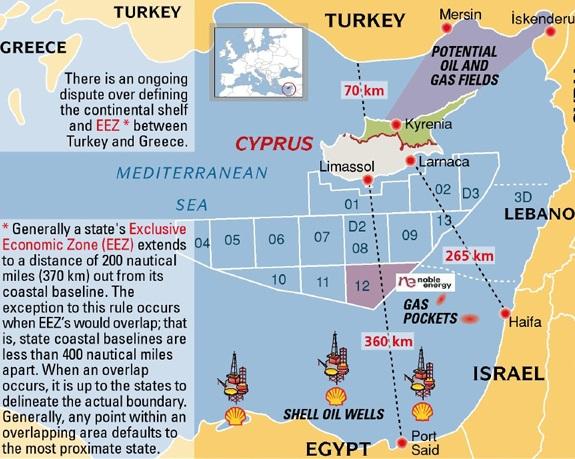 Il gas nel mediterraneo orientale