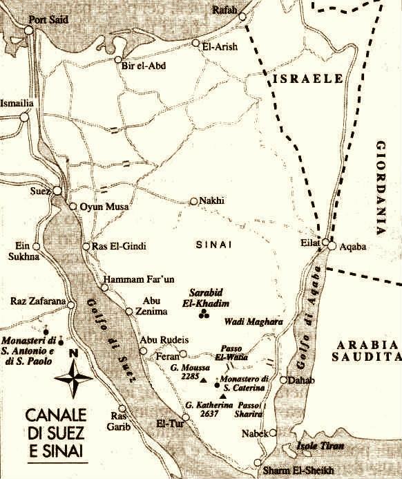 La penisola del Sinai e il canale di Suez