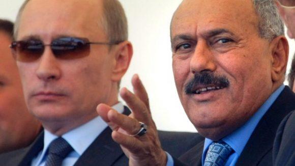 Ali Abdullah Saleh con Putin...