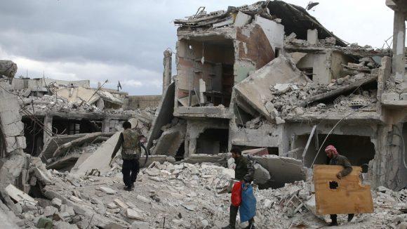 Douma pochi giorni fa (Al Jazeera)