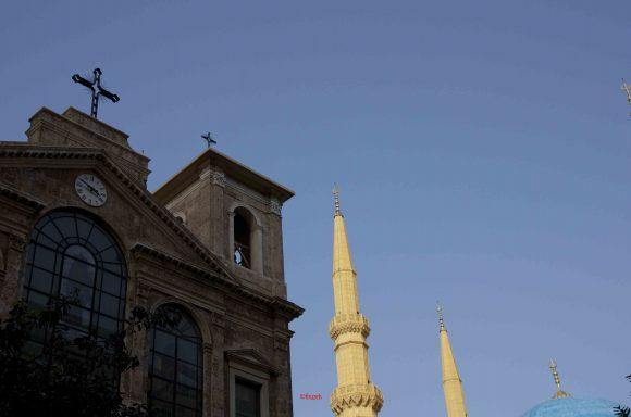 Beirut centro: chiesa e moschea (ph©firuzeh)