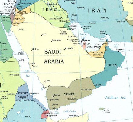 mappa-della-penisola-arabica